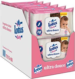 Les lingettes, lotions, et crèmes pour bébé à la composition la moins